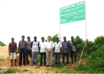 Forestation project in Matara City in Sri Lanka