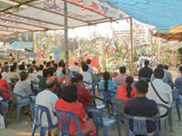 Community activity (Ceremony for purifying a building site)