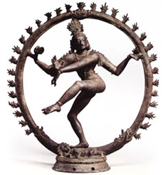 Shiva of Hinduism is also called Nataraja (lord of dance).