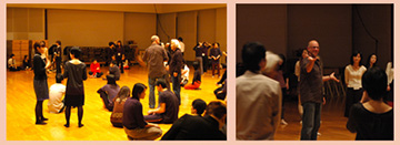A workshop with Jamie McHugh held at the Sainokuni Saitama Arts Theater