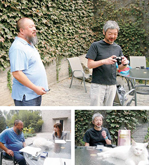 Interview with Ai Weiwei, September 2010 At Fake Studio, Caochangdi, Beijing with 40 cats and dogs (Interview and photoshoot: Masami Miyamoto)